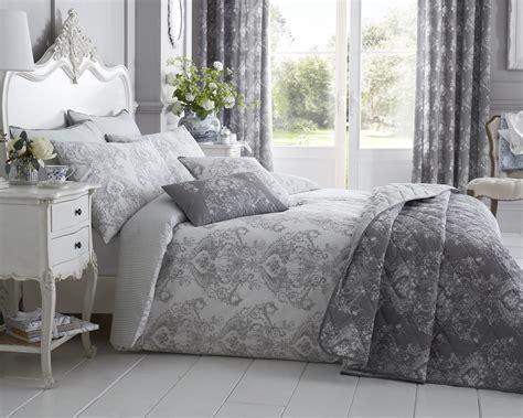 grey damask bedding toile floral damask bedding range in grey lancashire textiles