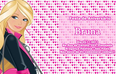 convites personalizado da barbie pictures to pin on pinterest convite barbie ateli 234 da naty elo7