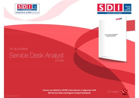 Service Desk Analyst by Sdi Sda Service Desk Analyst