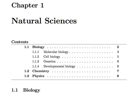 latex tutorial table of contents rules table of contents horizontal lines tex latex