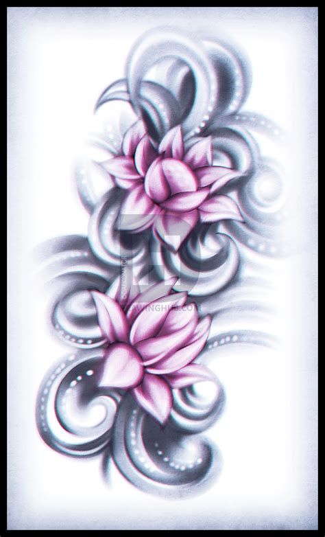 3 flower tattoo how to draw a lotus flower step by step drawing