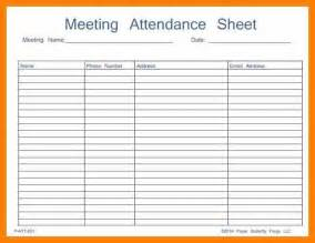 Meeting Register Template by Meeting Attendance Template 6 Meeting Attendance Register