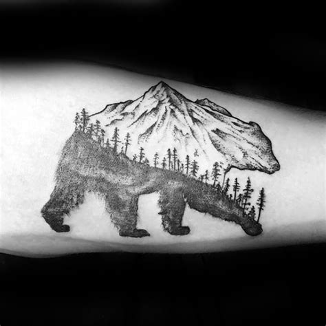 bear tree tattoo 60 small tree tattoos for masculine design ideas