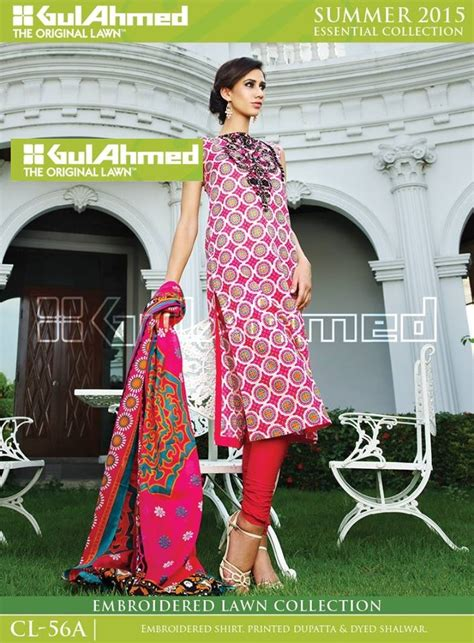 gul ahmed spring summer embroidered lawn 2015 2016 rg fashion world gul ahmed new spring summer lawn collection 2015 2016