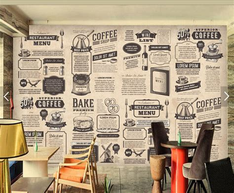 mural decoration Picture   More Detailed Picture about Custom retro wallpaper, hand drawn Food