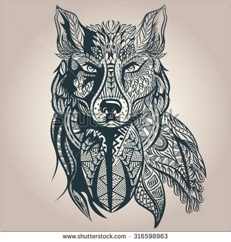 mosaic wolf pattern creative and awesome angry face of mosaic wolf tattoo