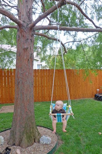 swings for trees in backyard nice tutorial on how to make your own baby swing very