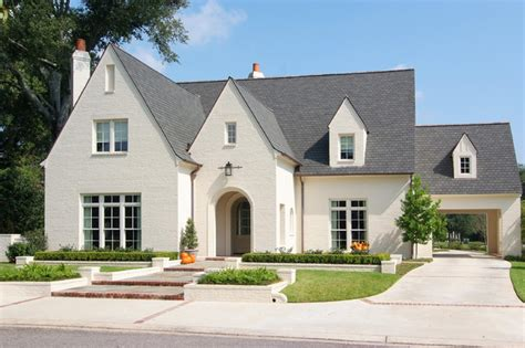 white painted brick exterior majestic oaks residence traditional exterior new