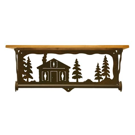 Cabin In The Pines cabin in the pines bath wall shelf 20 inch