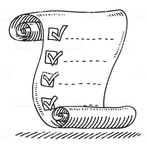 Inspect Sketches B And D by Liste De Contr 244 Le Papier Parchemin Dessin Tirage Stock