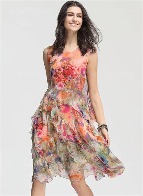 Verra Dress T3009 2 floryday abito di epoca floreale in seta al ginocchio 1955117306