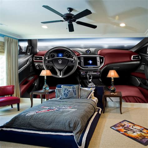 car wallpaper for bedroom 1x3m modern 3d fashion cool car mural wallpaper for