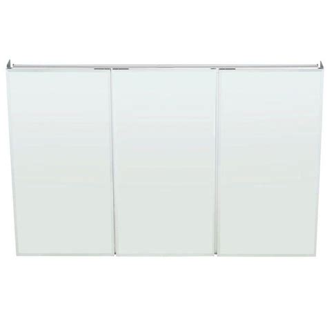 bathroom mirror medicine cabinet recessed pegasus 48 in w x 31 in h frameless recessed or surface