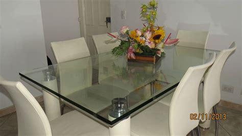 juego de comedor mesa en vidrio de  puestos juegos de