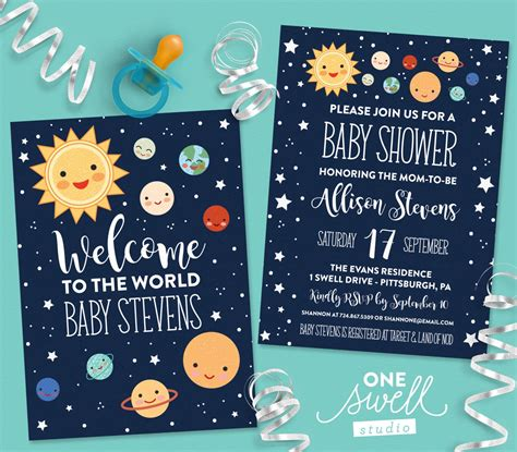 Space Baby Shower Invitations by Outer Space Invitation Moon Invitation Moon Baby Shower