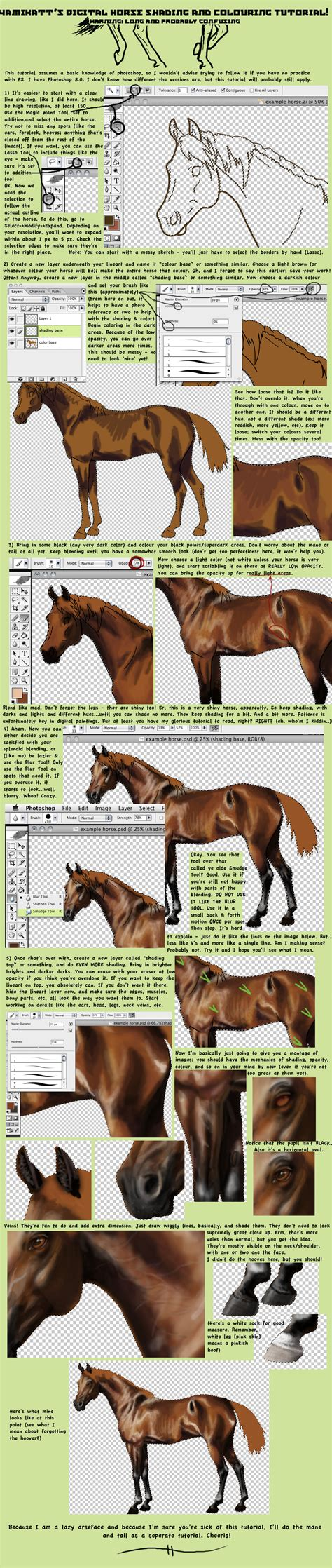 watercolor horse tutorial digital horse paintingtutorial by yamikatt on deviantart
