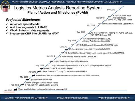 ppt logistics metrics analysis reporting system plan of