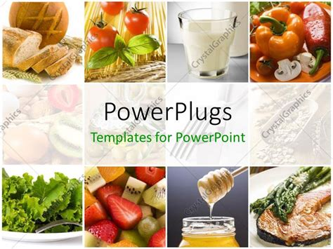 Powerpoint Template Food Collage With Fresh Fruits Food Powerpoint Templates Free