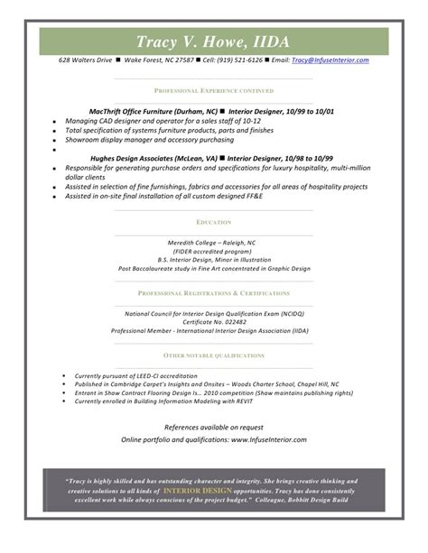 interior designer resume sles commercial interior design resume