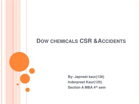 Dow Chemical Mba Program by Dow Chemicals