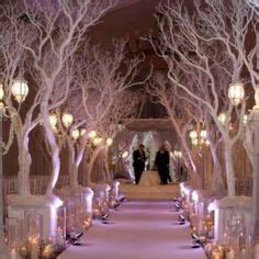 Wedding Aisle Trees by Winter Wedding Aisle