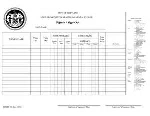 employee sign in sign out sheet template best photos of parent sign out sheet template parent