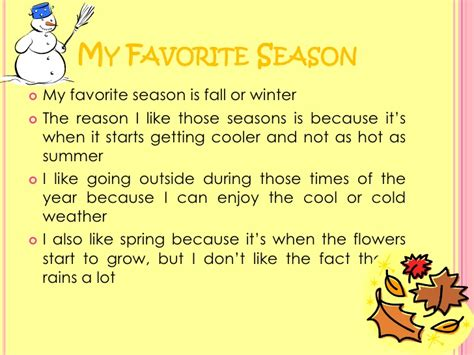 My Favorite Season Essay by My Favorite Season Essay In Academic Essay