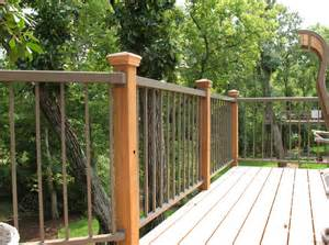 deck railings aluminum railings for decks with brown color ideas home