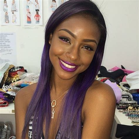 pics of black women hair ends colored 17 best images about beauty celebrity justine skye on