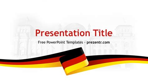 Germany Powerpoint Template Free Germany Powerpoint Template Prezentr Ppt Templates