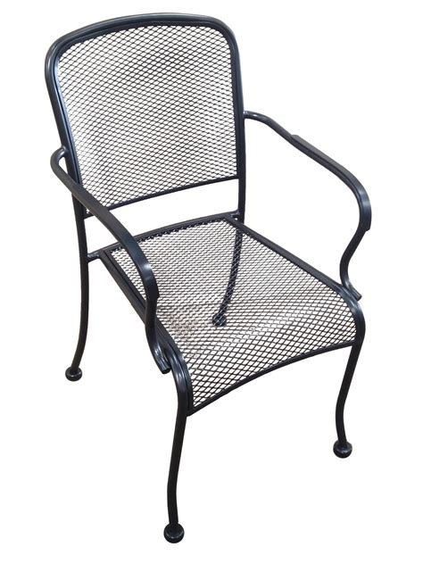 hd commercial seating mca outdoor wrought iron stackable arm chair