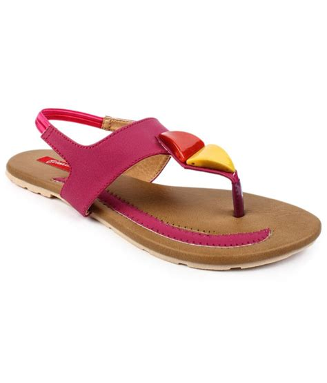 pink flat sandals finesse pink flat sandals price in india buy finesse pink
