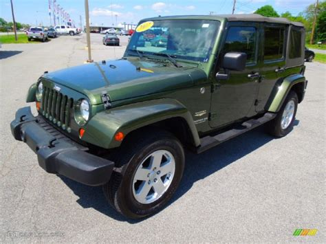 Green Jeep Colors 2007 Jeep Green Metallic Jeep Wrangler Unlimited