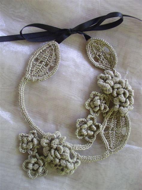 free pattern necklace crochet crochetology by fatima a blackberry design
