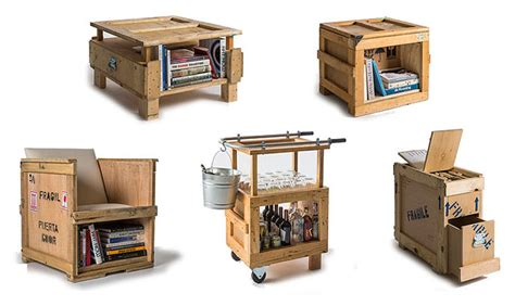 Kennel Furniture by Peveto Turns Shipping Crates Into Awesome Industrial Style