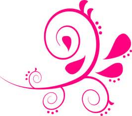 Free clip art pink swirls