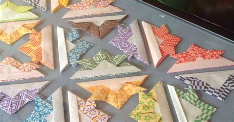 origami quilt create with mrs p make a quilt in an evening a