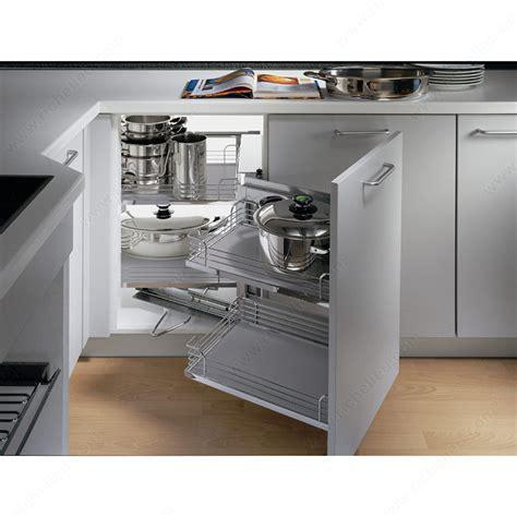 Kitchen Cabinet Shutters by Magic Corner Set With Grey Arena Baskets Richelieu Hardware