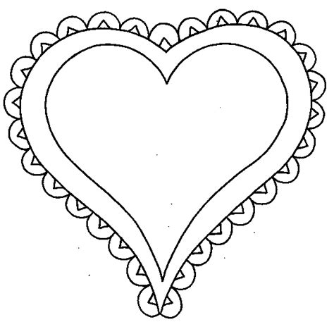 clipart heart coloring page printable heart borders clipart best