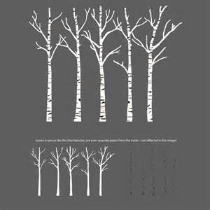 Removable Nursery Wall Stickers birch trees silhouettes forrest wall decal contemporary