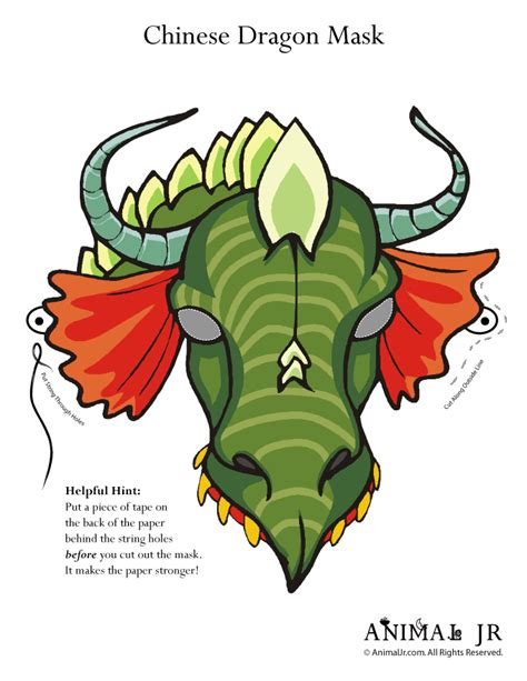printable masks dragon printable dragon mask woo jr kids activities