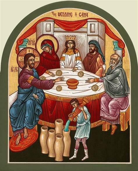 The Wedding Feast At Cana 2 1 11 by St Orthodox Church Of Los Angeles Sunday Of
