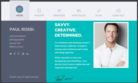 personal profile design templates 30 best resume cv html templates for personal business