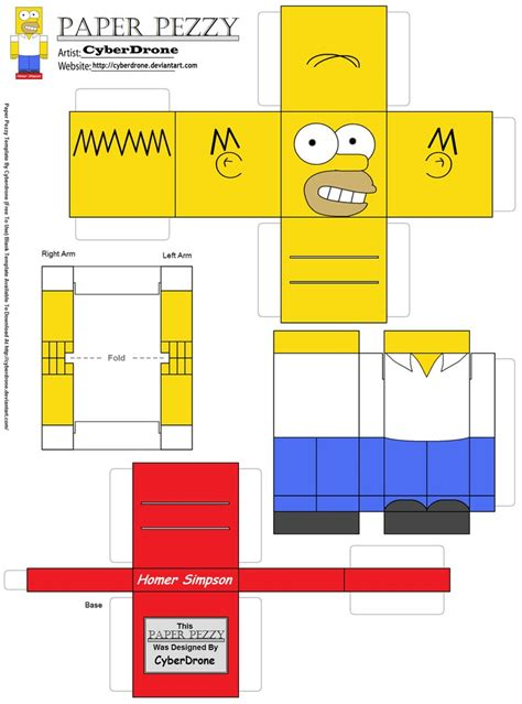 Simpsons Papercraft - paper pezzy homer by cyberdrone on deviantart