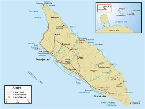 printable aruba road map detailed road map of aruba aruba detailed road map