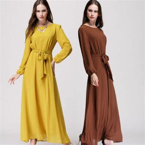 Baju Fashion Casual dress shadow picture more detailed picture about 4 colors casual muslim abaya dubai