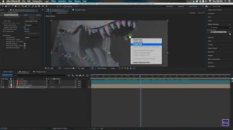 tutorial after effects mosaic drawing lines and points on a 3d footage in after effect