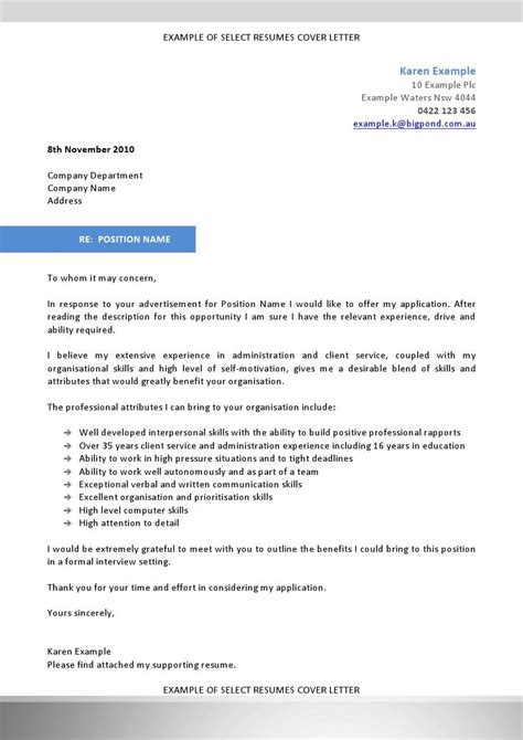 Cover Letter Selection Criteria we can help with professional resume writing resume