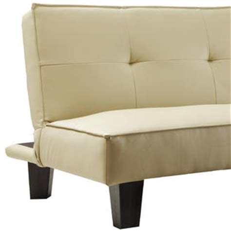 oxford creek convertible futon soft beige faux leather