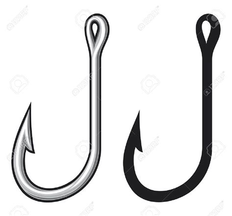 antler clipart fishing hook pencil and in color antler